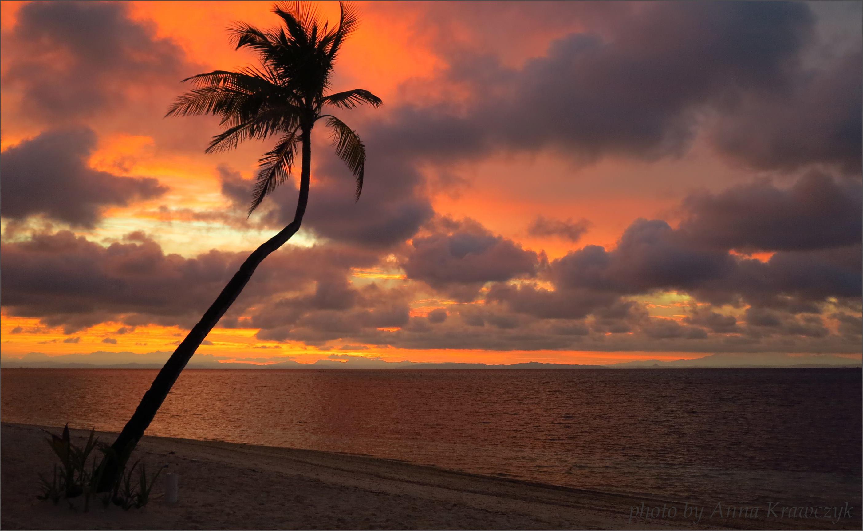 Beautiful Sunset In Malapascua Island, Philippines