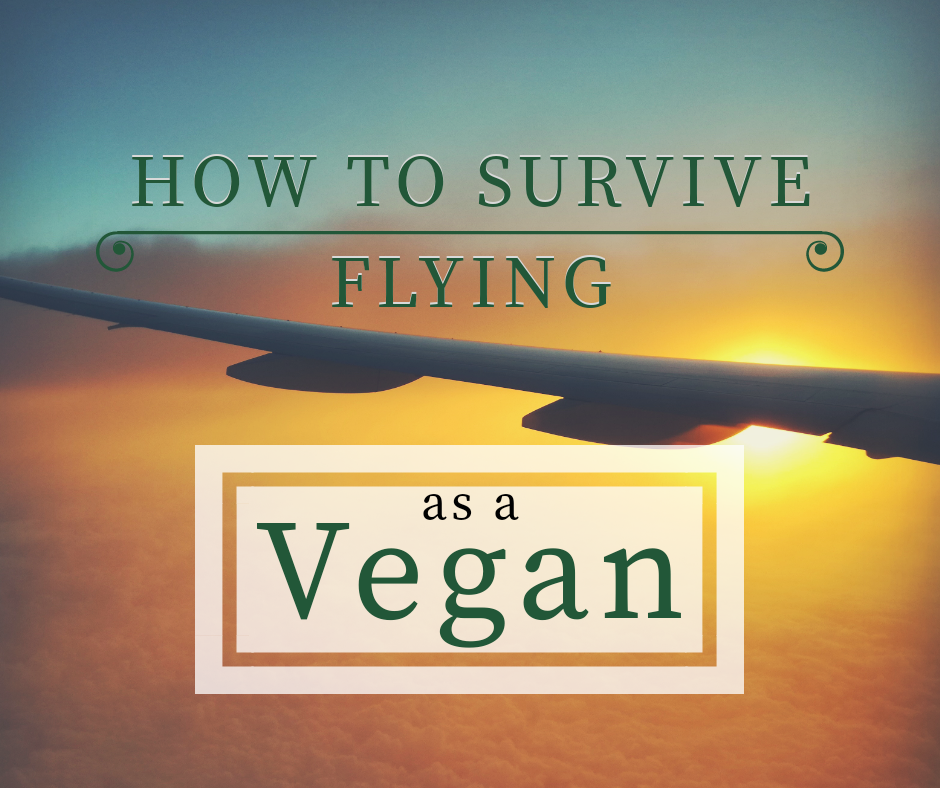 how to survive flying as vegan